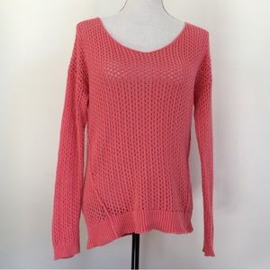 BP Coral Loose Knit Dolmen Sleeve Sweater S